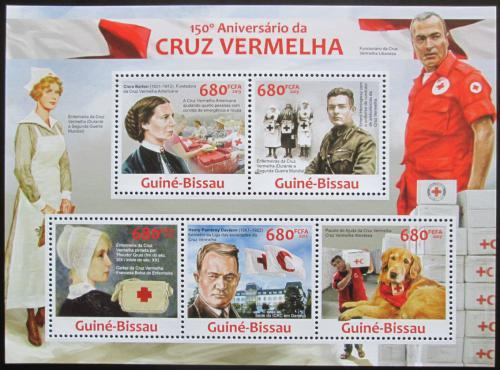 Poštovní známky Guinea-Bissau 2013 Èervený køíž, 150. výroèí Mi# 6614-18 Kat 14€