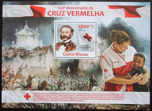Poštovní známka Guinea-Bissau 2013 Èervený køíž, 150. výroèí Mi# Block 1158 Kat 11€