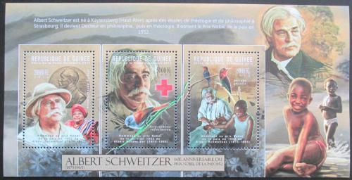 Poštovní známky Guinea 2012 Albert Schweitzer Mi# 9336-38 Kat 16€