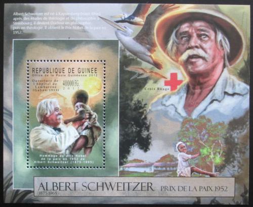 Poštovní známka Guinea 2012 Albert Schweitzer Mi# Block 2123 Kat 16€