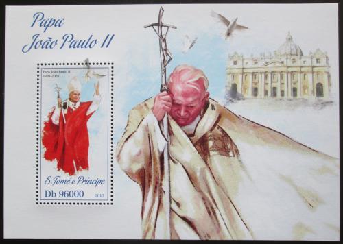 Poštovní známka Svatý Tomáš 2013 Papež Jan Pavel II. Mi# Block 926 Kat 10€