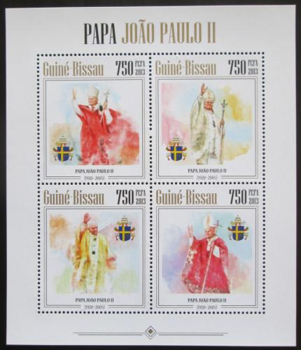 Poštovní známky Guinea-Bissau 2013 Papež Jan Pavel II. Mi# 6783-86 Kat 12€