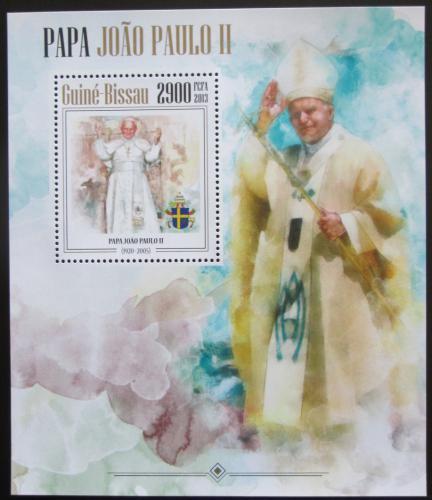 Poštovní známka Guinea-Bissau 2013 Papež Jan Pavel II. Mi# Block 1190 Kat 12€