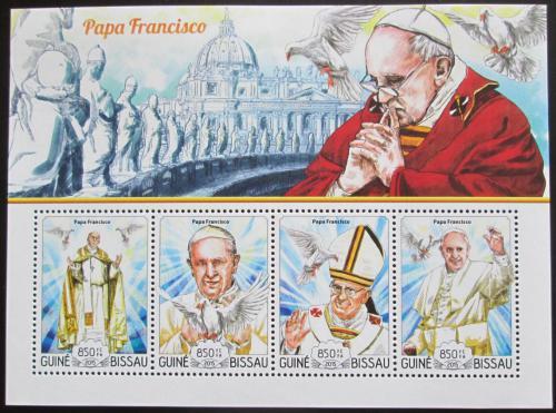 Poštovní známky Guinea-Bissau 2015 Papež František Mi# 7745-48 Kat 14€