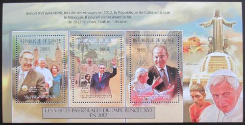 Poštovní známky Guinea 2012 Papež Benedikt Mi# 9375-77 Kat 16€