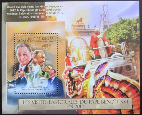Poštovní známka Guinea 2012 Papež Benedikt Mi# Block 2133 Kat 16€