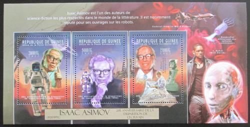 Poštovní známky Guinea 2012 Isaac Asimov, spisovatel a vìdec Mi# 9348-50 Kat 16€
