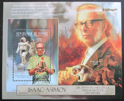 Poštovní známka Guinea 2012 Isaac Asimov, spisovatel a vìdec Mi# Block 2126 Kat 16€