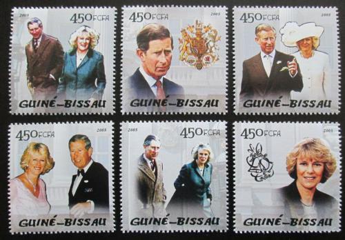 Poštovní známky Guinea-Bissau 2005 Královská svatba Mi# 2895-2900 Kat 11€