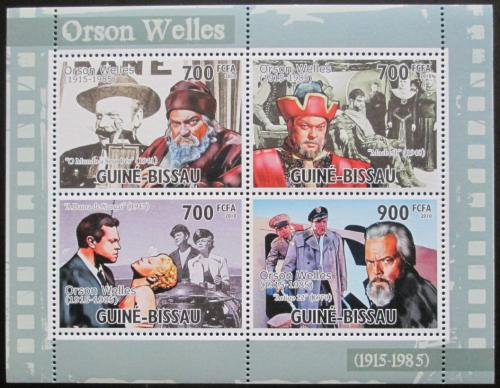 Poštovní známky Guinea-Bissau 2010 Orson Welles, herec Mi# 5190-93 Kat 12€