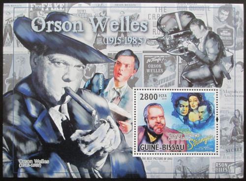 Poštovní známka Guinea-Bissau 2010 Orson Welles, herec Mi# Block 890 Kat 11€