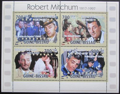 Poštovní známky Guinea-Bissau 2010 Robert Mitchum, herec Mi# 5195-98 Kat 12€
