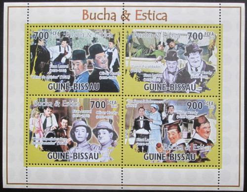 Poštovní známky Guinea-Bissau 2010 Laurel a Hardy Mi# 5185-88 Kat 12€