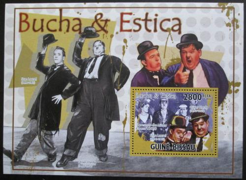 Poštovní známka Guinea-Bissau 2010 Laurel a Hardy Mi# Block 889 Kat 11€