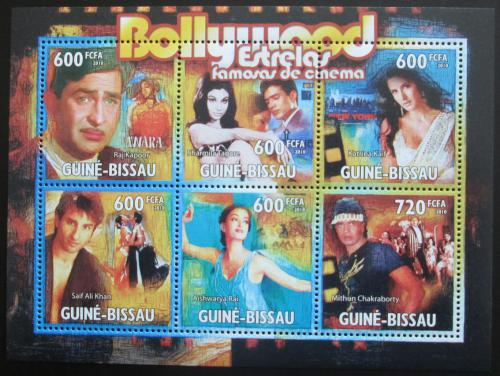 Poštovní známky Guinea-Bissau 2010 Indiètí herci Mi# 5173-78 Kat 14€