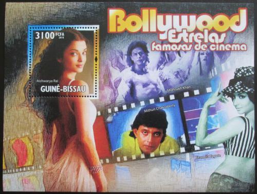 Poštovní známka Guinea-Bissau 2010 Indiètí herci Mi# Block 887 Kat 14€