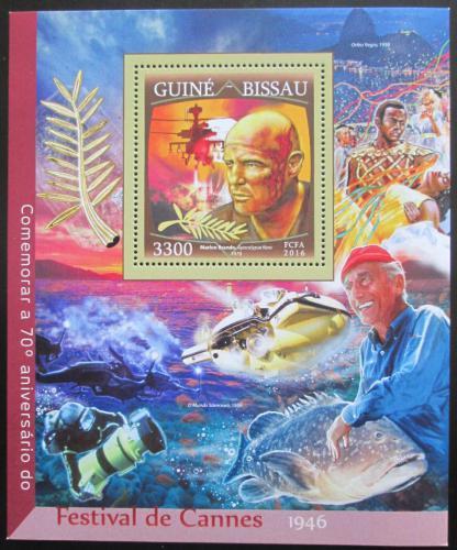 Poštovní známka Guinea-Bissau 2016 Filmový festival v Cannes Mi# Block 1497 12.50€