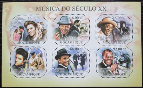 Poštovní známky Mosambik 2011 Slavní hudebníci Mi# 4797-4802 Kat 12€