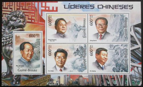 Poštovní známky Guinea-Bissau 2012 Èínští vùdci Mi# 5816-20 Kat 12€