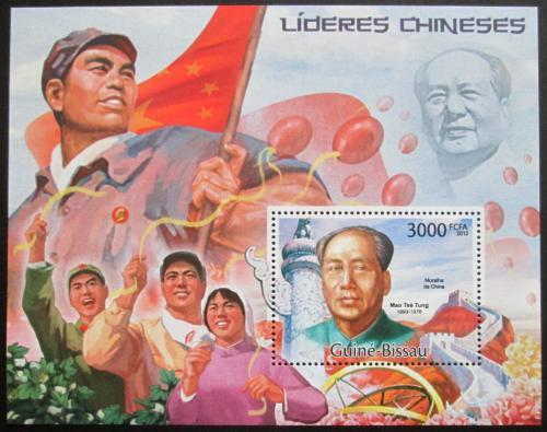 Poštovní známka Guinea-Bissau 2012 Èínští vùdci Mi# Block 1027 Kat 12€