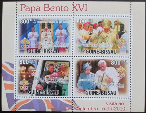 Poštovní známky Guinea-Bissau 2010 Papež Benedikt Mi# 5200-03 Kat 13€