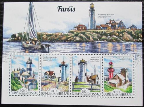 Poštovní známky Guinea-Bissau 2015 Majáky Mi# 7759-62 Kat 14€