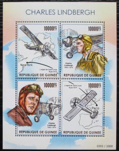 Poštovní známky Guinea 2015 Charles Lindbergh, letadla Mi# 11338-41 Kat 16€