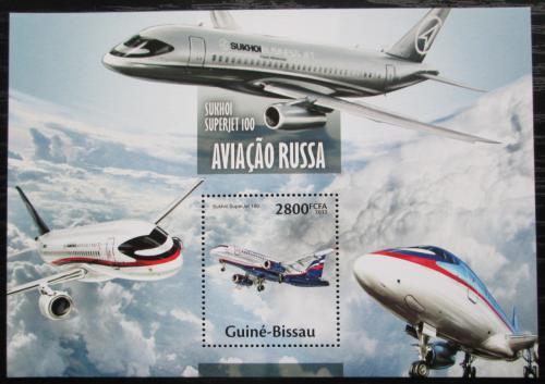 Poštovní známka Guinea-Bissau 2013 Ruská letadla Mi# Block 1180 Kat 11€