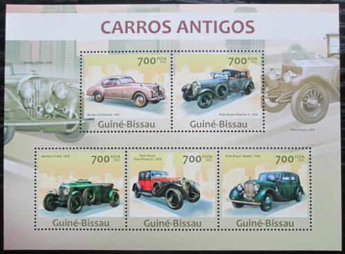 Poštovní známky Guinea-Bissau 2013 Historické automobily Mi# 6626-30 Kat 14€