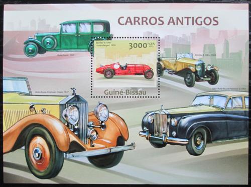 Poštovní známka Guinea-Bissau 2013 Historické automobily Mi# Block 1160 Kat 12€