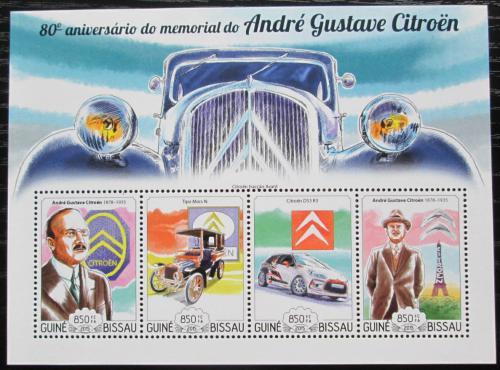 Poštovní známky Guinea-Bissau 2015 Automobily Citroen Mi# 7730-33 Kat 14€