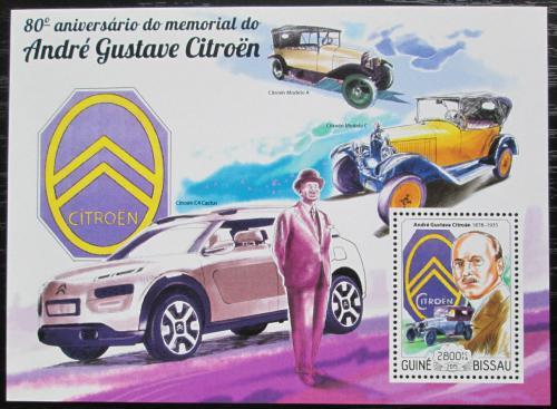 Poštovní známka Guinea-Bissau 2015 Automobily Citroen Mi# Block 1345 Kat 11€