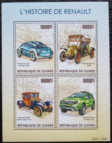 Poštovní známky Guinea 2015 Automobily Renault Mi# 11393-96 Kat 16€