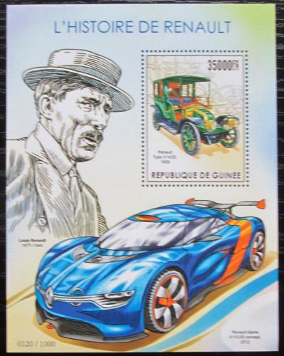 Poštovní známka Guinea 2015 Automobily Renault Mi# Block 2575 Kat 14€
