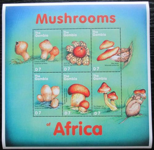 Poštovní známky Gambie 2000 Houby Mi# 3616-21