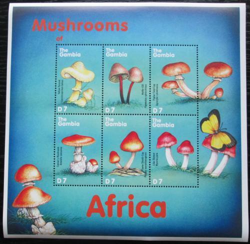 Poštovní známky Gambie 2000 Houby Mi# 3622-27