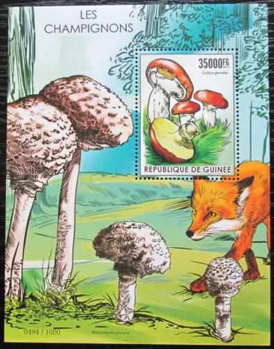 Poštovní známka Guinea 2015 Houby Mi# Block 2553 Kat 14€