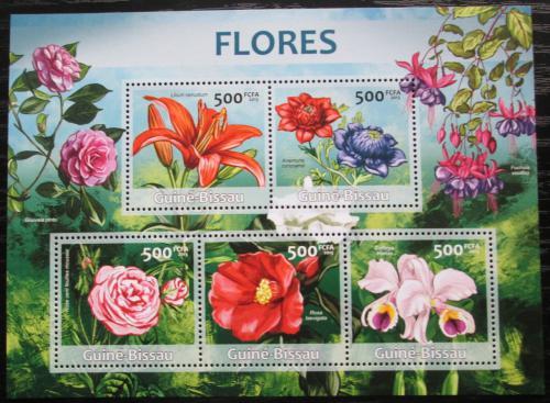 Poštovní známky Guinea-Bissau 2013 Kvìtiny Mi# 6530-34 Kat 10€