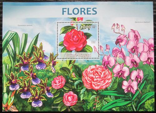 Poštovní známka Guinea-Bissau 2013 Kvìtiny Mi# Block 1144 Kat 8€