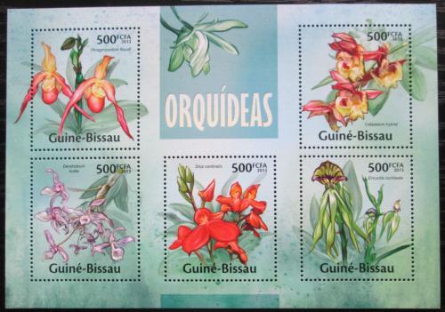 Poštovní známky Guinea-Bissau 2013 Orchideje Mi# 6658-62 Kat 10€