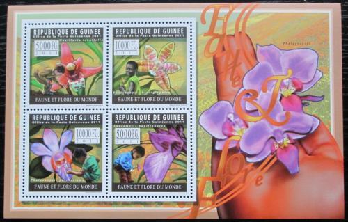 Poštovní známky Guinea 2011 Orchideje Mi# 8279-82 Kat 12€