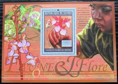 Poštovní známka Guinea 2011 Orchideje Mi# Block 1937 Kat 18€
