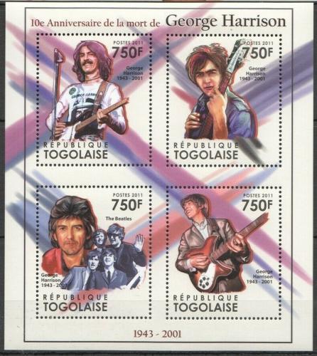 Poštovní známky Togo 2011 George Harrison, The Beatles Mi# 4044-47 Kat 12€
