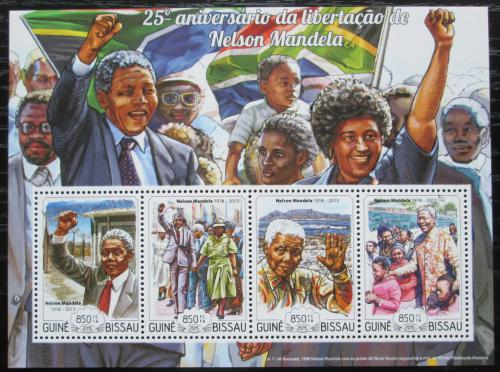 Poštovní známky Guinea-Bissau 2015 Nelson Mandela Mi# 7664-67 Kat 14€