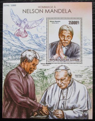 Poštovní známka Guinea 2015 Nelson Mandela Mi# Block 2568 Kat 14€