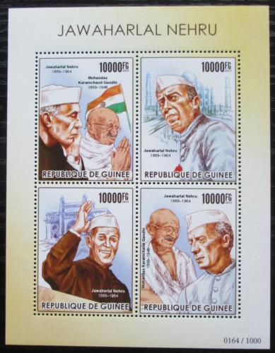 Poštovní známky Guinea 2015 Džaváharlál Néhrú Mi# 11333-36 Kat 16€