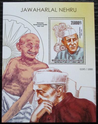 Poštovní známka Guinea 2015 Džaváharlál Néhrú Mi# Block 2563 Kat 14€