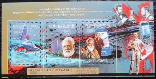 Poštovní známky Guinea 2012 Alexander Graham Bell Mi# 9332-34 Kat 16€