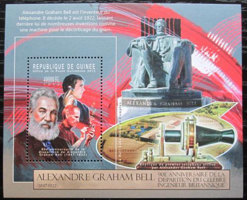 Poštovní známka Guinea 2012 Alexander Graham Bell Mi# Block 2122 Kat 16€