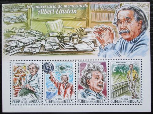 Poštovní známky Guinea-Bissau 2015 Albert Einstein Mi# 7659-62 Kat 13€